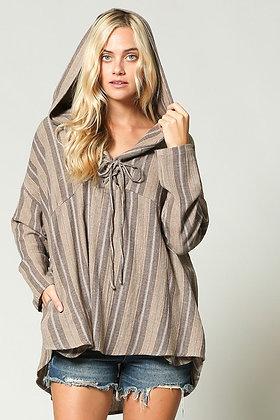 Cozy Stripe Hoodie