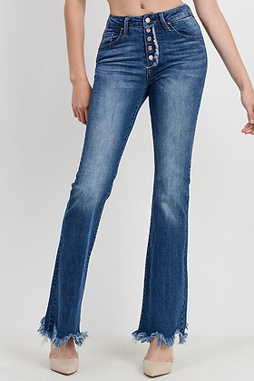 Frayed Flair Jeans