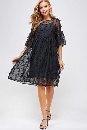 Black Ivy Lace Dress