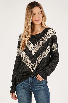 Snake Chevron Top