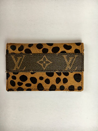 Leather LV Credit Card Wallet, Spotted