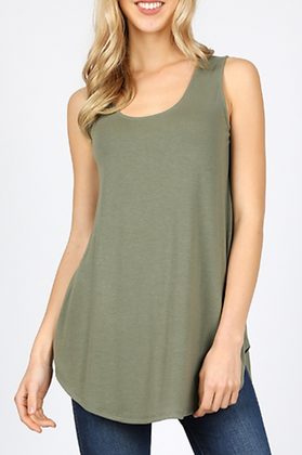 Simple Tank Top, Olive