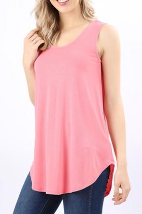 So Simple Tank Top, Pink