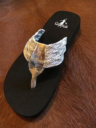 Corkys Flip Flops, Silver