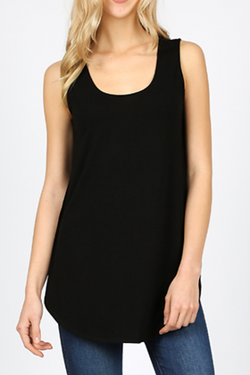 So Simple Tank Top, Black