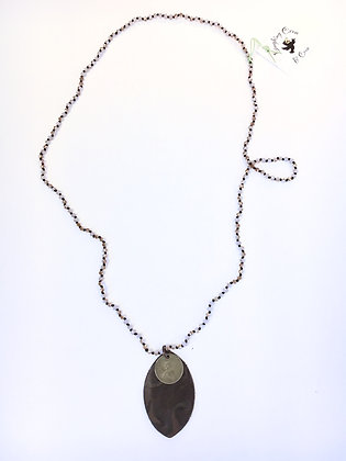 Coin & Leather Necklace