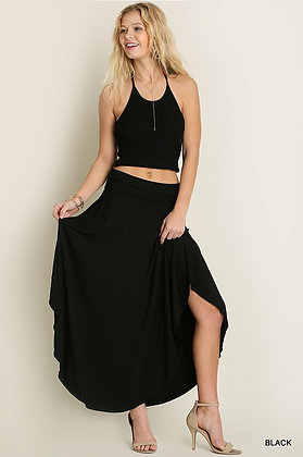 At Ease Maxi Skirt, Black