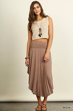 At Ease Maxi Skirt, Taupe