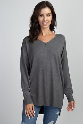 Classic Comfy Sweater, Charcoal
