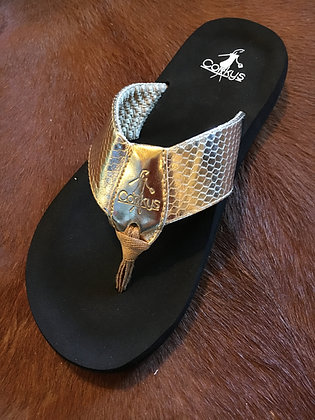 Corkys Flip Flops,Gold