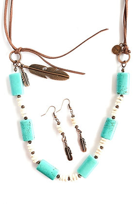 Turquoise and Ivory Necklace Set