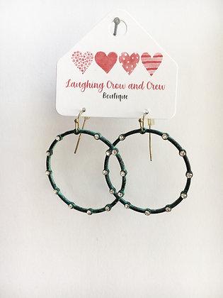 Turquoise Wash Hoop Earrings