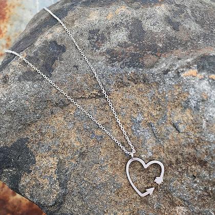 Heart Arrow Necklace
