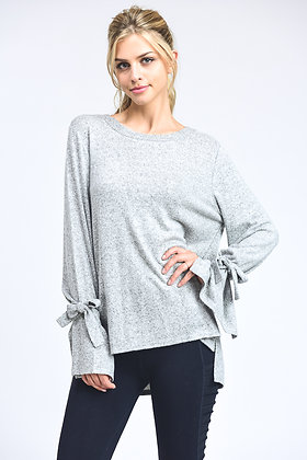 Silver Tie Sweater
