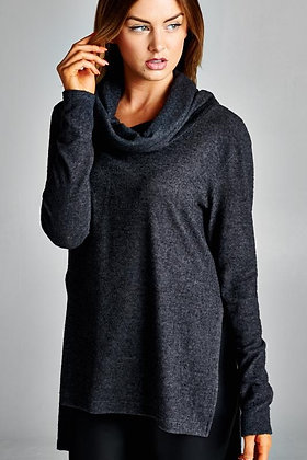 Black Cowl Neck Tunic