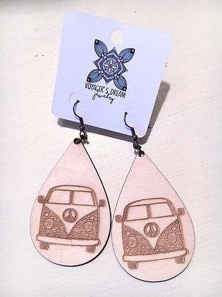 VW Wood Earrings