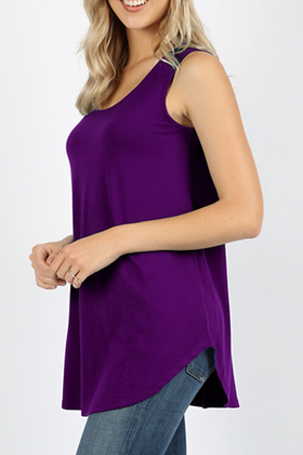 So Simple Tank Top, Purple