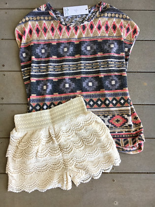 Fav Crochet Shorts, Cream