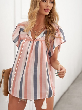 Ready For Adventure Stripe Blouse