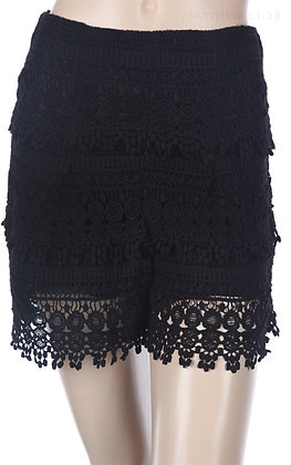 Crochet Lovin Shorts,Black