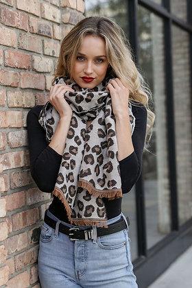 Reversible Leopard Scarf