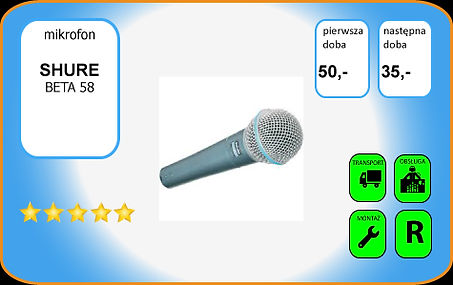 wynajem mikrofonu Shue Beta58