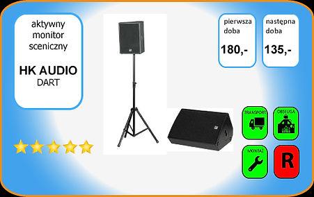 wynajem kolumny głośnikowej - monitora scenicznego - HK Audio DART