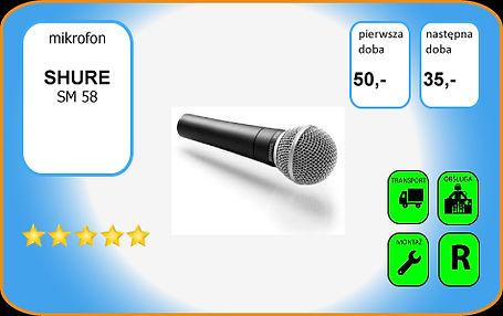 wynajem mikrofonu Shure SM58