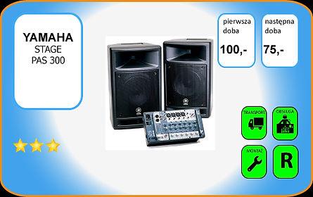 wynajem kolumny głośnikowej Yamaha Stagepas 300