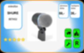 wynajem mikrofonu Shure Beta52