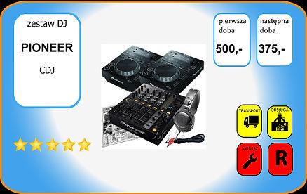 wynajem zestawu DJskiego PIONEER: DJM700, CDJ350