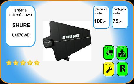 wynajem anteny kierunkowej Shure UA870WB