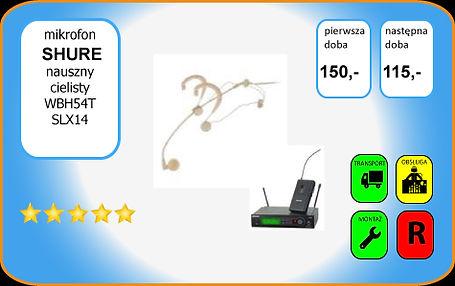 wynajem mikrofonu nagłownego (mikroport) Shure SLX MX153