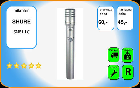 wynajem mikrofonu Shure SM81
