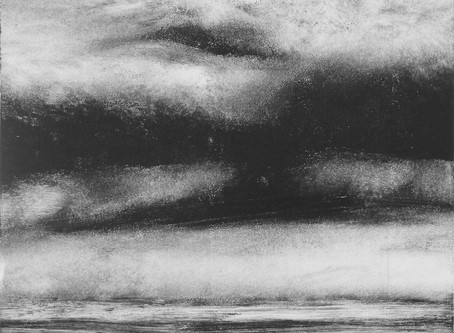 """a Concurrence with """"Beautiful World"""", a series of monotypes BY Cara Luneau"""