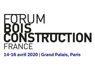 Forum Bois Construction - Paris Grand Palais 14 - 16 avril 2020