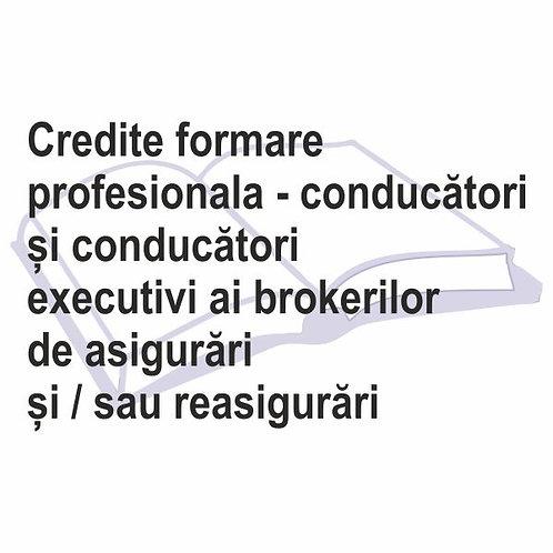 Credite formare profesională conducători executivi ai brokerilor-eLearning