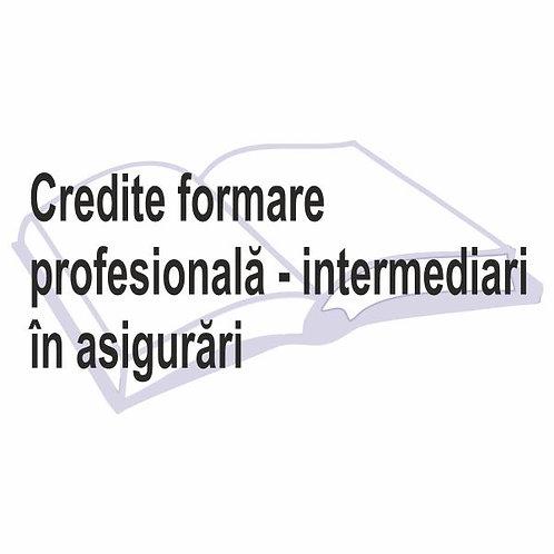 Credite formare profesională pentru intermediari în asigurări-eLearning