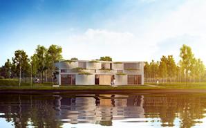 Floriade Pavilion next to water