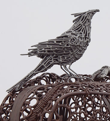 dream on, barbed wire, migration case, merican steel, bisbee, john, cmca, nails, art, sculpture, political art