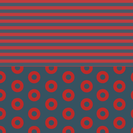 Coordinating Fishman Donut Fabric Jersey Stripes