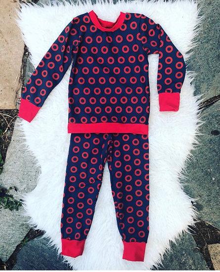 Fishman Donut Pajama Set    Children and Adults