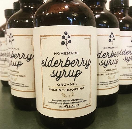 Oregon Elderberry Syrup with Local Raw Honey 8oz