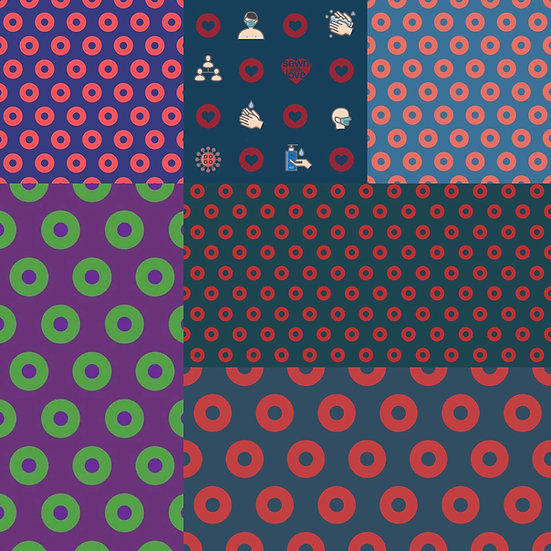 Woven Cotton Poplin Fishman Donut Fabric