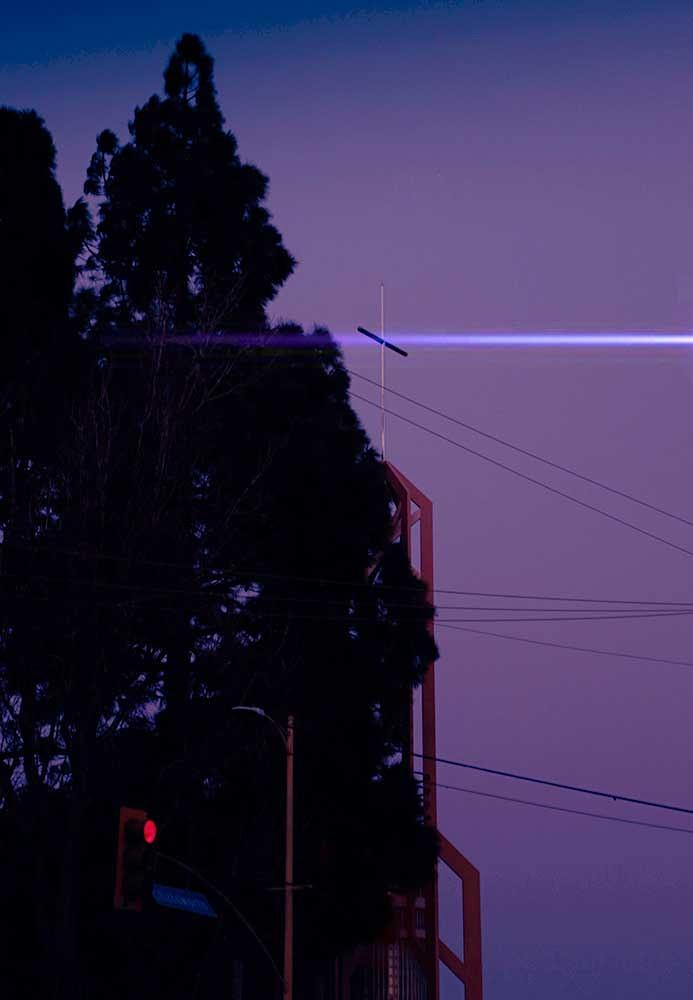 Church cross light beam