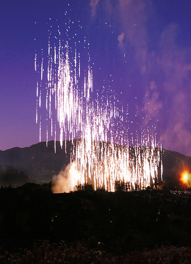 Purple fire sky