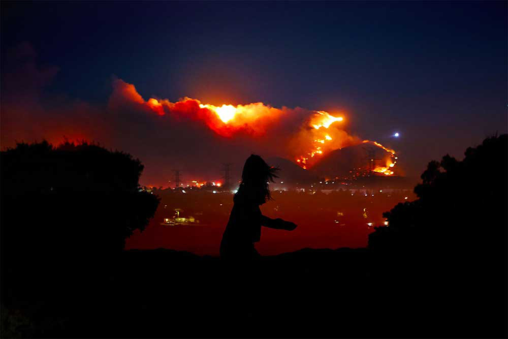 Santa Clarita fire cinematic photo