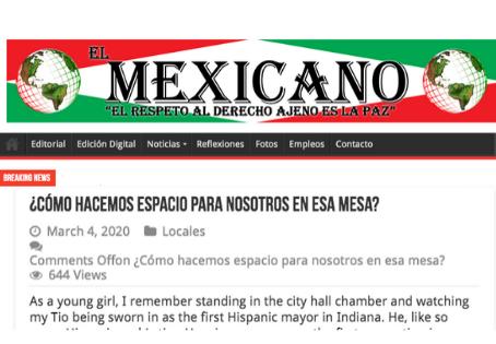 El Mexicano Fort Wayne: ¿Cómo hacemos espacio para nosotros en esa mesa?