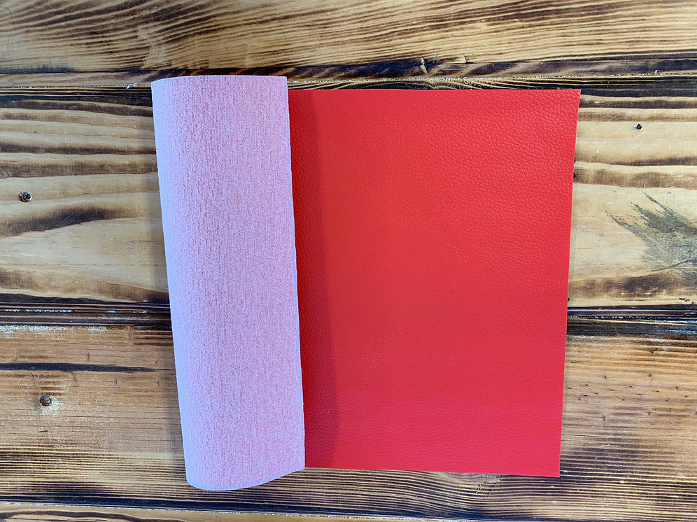Faux Leather Sheet 8 Quot X 12 Quot Bright Red Heat Transfer Haus