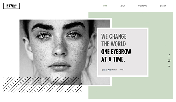 Moda website templates – Brow Bar